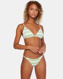 1 Ziggy Textured Mid-Rise French Bikini Bottom White AVJX400170 RVCA