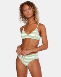 1 Ziggy Textured Mid-Rise Boy Short Bikini Bottom White AVJX400171 RVCA