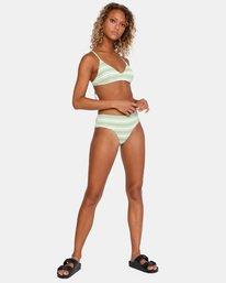 2 Ziggy Textured Mid-Rise Boy Short Bikini Bottom White AVJX400171 RVCA