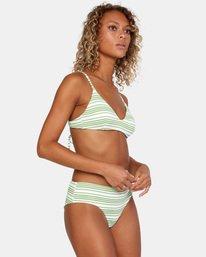 3 Ziggy Textured Mid-Rise Boy Short Bikini Bottom White AVJX400171 RVCA