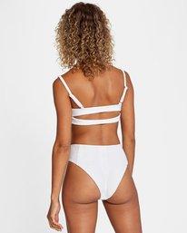 3 La Jolla Textured High-Rise Cheeky Bikini Bottom White AVJX400172 RVCA