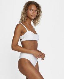 6 La Jolla Textured High-Rise Cheeky Bikini Bottom White AVJX400172 RVCA