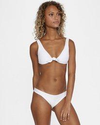 1 La Jolla Textured Low-Rise Medium Coverage Bikini Bottom White AVJX400173 RVCA