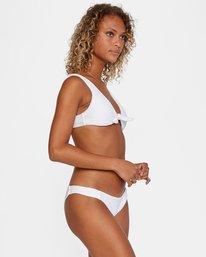 3 La Jolla Textured Low-Rise Medium Coverage Bikini Bottom White AVJX400173 RVCA