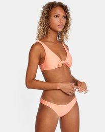 3 La Jolla Textured Low-Rise Medium Coverage Bikini Bottom Orange AVJX400173 RVCA