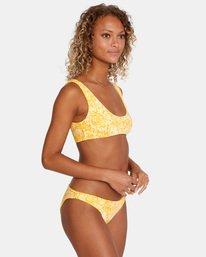 3 Forever Printed Low-Rise Full Bikini Bottom Yellow AVJX400174 RVCA