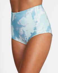 6 Wavelength Printed High-Rise Cheeky Bikini Bottom Blue AVJX400182 RVCA
