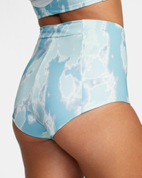 8 Wavelength Printed High-Rise Cheeky Bikini Bottom Blue AVJX400182 RVCA
