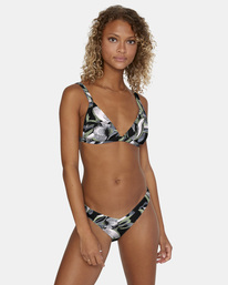 1 Pixie Printed Mid-Rise French Bikini Bottom White AVJX400185 RVCA