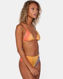 4 Trippy Dana Printed High-Rise Cheeky Bikini Bottom Grey AVJX400188 RVCA