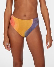 5 Trippy Dana Printed High-Rise Cheeky Bikini Bottom Grey AVJX400188 RVCA