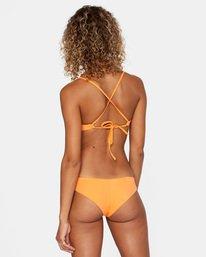 0 Solid Low-Rise Cheeky Bikini Bottom Orange AVJX400189 RVCA