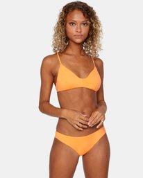 1 Solid Low-Rise Cheeky Bikini Bottom Orange AVJX400189 RVCA