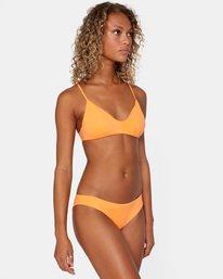 3 Solid Low-Rise Cheeky Bikini Bottom Orange AVJX400189 RVCA