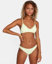 1 Solid Low-Rise Cheeky Bikini Bottom Green AVJX400189 RVCA