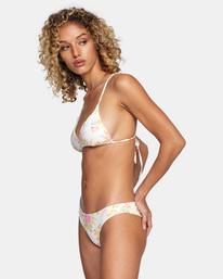 3 Mary Printed Cheeky Bikini Bottom White AVJX400192 RVCA