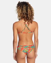0 Those Days Printed Cheeky Bikini Bottom Red AVJX400193 RVCA