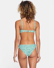 0 Sweet Escape Printed Low-Rise Medium Bikini Bottom Green AVJX400195 RVCA