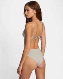 4 Jet Set Printed High-Rise Cheeky Bikini Bottom White AVJX400201 RVCA