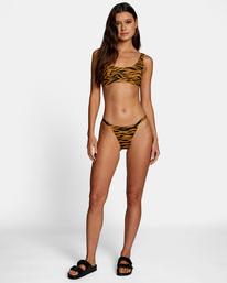2 Top Notch Printed Low-Rise Cheeky Bikini Bottom  AVJX400207 RVCA