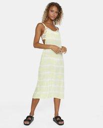 7 Island Hopper Tie-Dye Dress Green AVJX600107 RVCA
