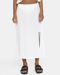 6 After Hours Solid Skirt White AVJX600112 RVCA