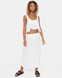 8 After Hours Solid Skirt White AVJX600112 RVCA
