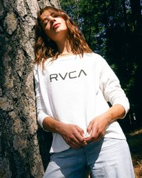 0 BIG RVCA STOLEN LONG SLEEVE TEE White AVJZT00103 RVCA