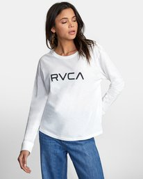 1 BIG RVCA STOLEN LONG SLEEVE TEE White AVJZT00103 RVCA