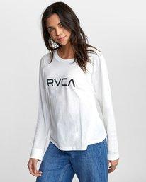 4 BIG RVCA STOLEN LONG SLEEVE TEE White AVJZT00103 RVCA