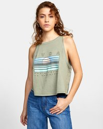 0 BLINDED TANK TOP Green AVJZT00110 RVCA