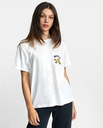 0 RVCA TUESDAY TEE White AVJZT00115 RVCA