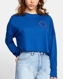 4 WHIRL LONG SLEEVE TEE Red AVJZT00142 RVCA
