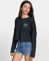 0 SEASCAPE LONG SLEEVE TEE Black AVJZT00149 RVCA