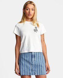 0 PEACE OUT SHORT SLEEVE TEE White AVJZT00194 RVCA