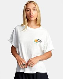 0 WISH YOU SHORT SLEEVE TEE White AVJZT00227 RVCA