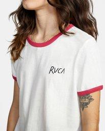 5 Scribble RVCA Short Sleeve Ringer Tee White AVJZT00256 RVCA