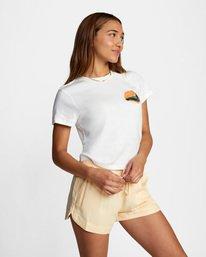 7 Dana Trippe Dana Hues Short Sleeve Tee White AVJZT00257 RVCA