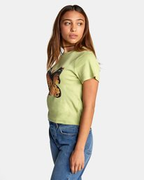 6 Dana Trippe Dana Butterfly Short Sleeve Tee Green AVJZT00258 RVCA