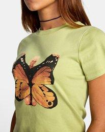 8 Dana Trippe Dana Butterfly Short Sleeve Tee Green AVJZT00258 RVCA