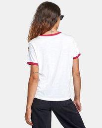 1 Framed Short Sleeve Ringer Tee White AVJZT00291 RVCA