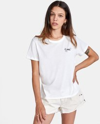 0 Peace Short Sleeve Tee White AVJZT00296 RVCA