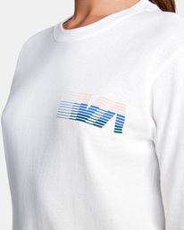 2 La 84 Long Sleeve Tee White AVJZT00298 RVCA