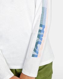 7 La 84 Long Sleeve Tee White AVJZT00298 RVCA