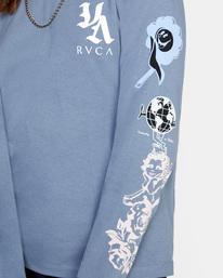 6 Mash Up Long Sleeve Tee Blue AVJZT00300 RVCA