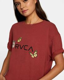 2 Butterfly RVCA Crop Tee Multicolor AVJZT00306 RVCA