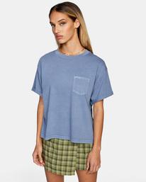 0 Roll It Tee Blue AVJZT00341 RVCA