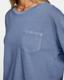 2 Stolen Long Sleeve Tee Blue AVJZT00342 RVCA