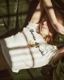 0 Camille Rowe | Arrete De Parler T-Shirt White AVJZT00344 RVCA