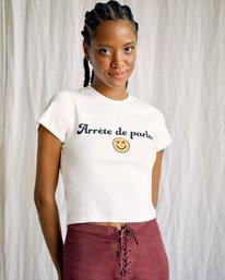 3 Camille Rowe | Arrete De Parler T-Shirt White AVJZT00344 RVCA